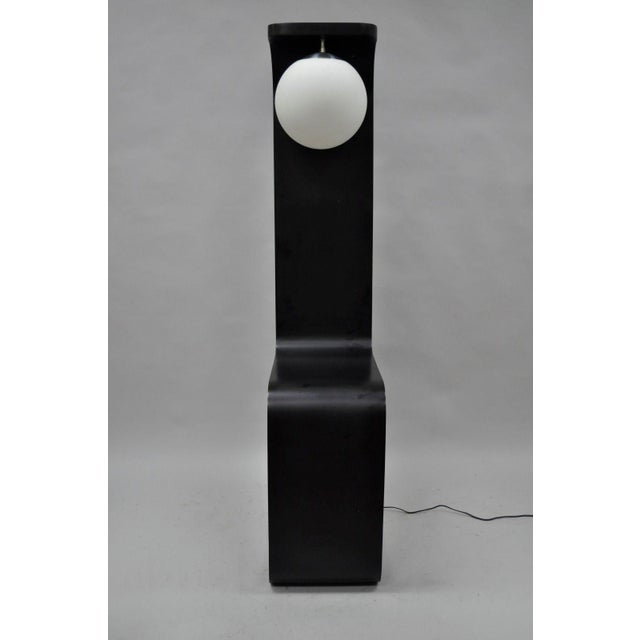 Mid-Century Modern Vintage Mid-Century Modern Sculptural Black Chrome Standing Floor Lamp For Sale - Image 3 of 13