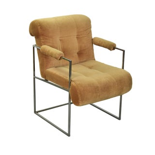"""1970s Vintage Milo Baughman for Thayer Coggin """"Drop In"""" Side Chair For Sale"""