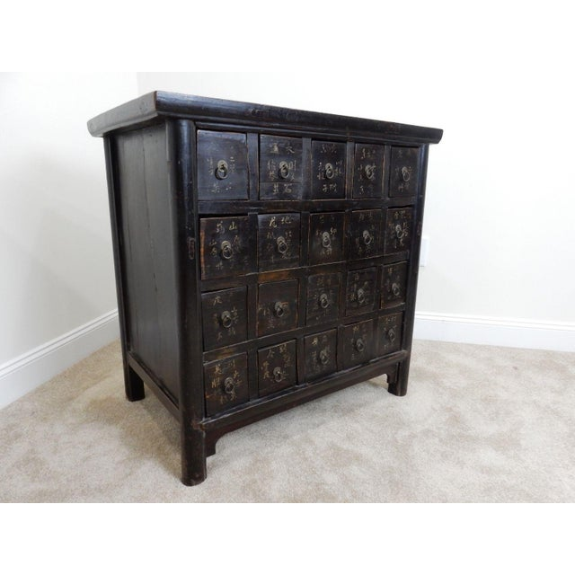 Antique Chinese Elmwood Apothecary Cabinet For Sale - Image 5 of 11
