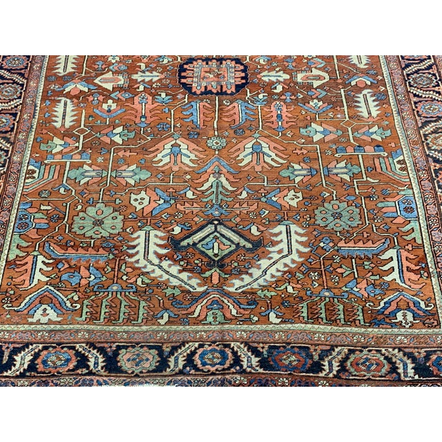 Early 20th Century Antique Persian Sarapi Rug For Sale - Image 5 of 12