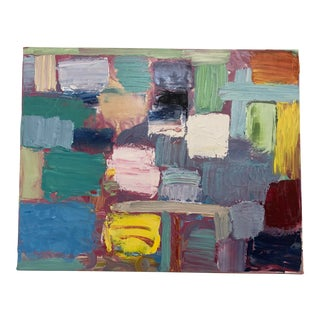 Contemporary Abstract Mosaic Oil on Canvas Original Artwork For Sale
