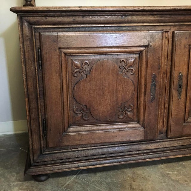 An impressive, 19th Century Italian Rustic Country Vaisselier is ideal for adding a Tuscan flair to any casual decor! Open...