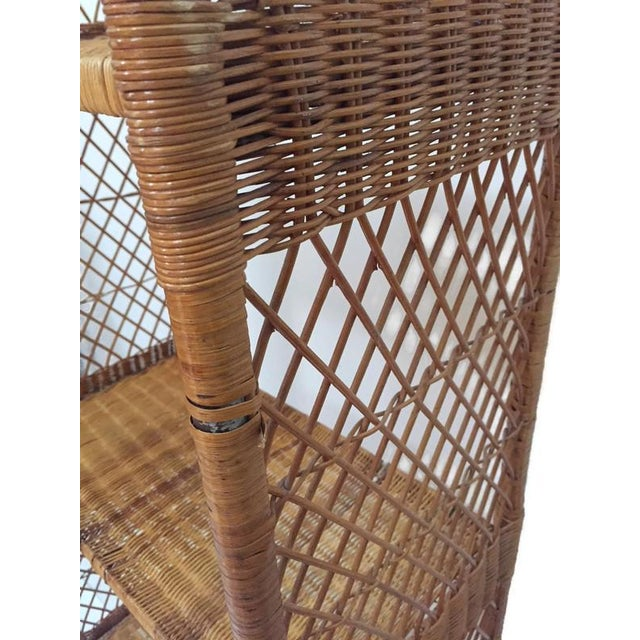 Brown Vintage Domed Rattan Etagere Danny Fong Style For Sale - Image 8 of 12