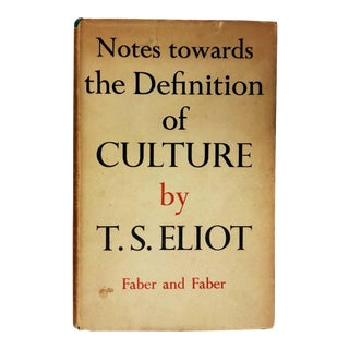 "1948 ""Notes Towards the Definition of Culture"" Collectible Book For Sale"