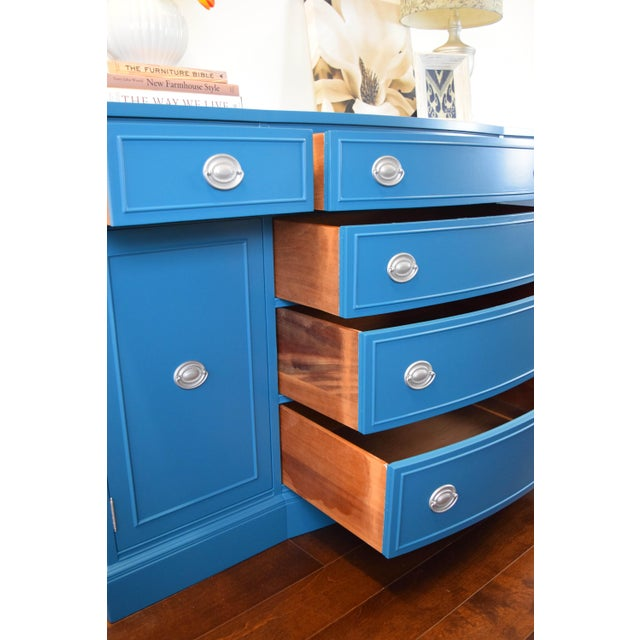 Teal Blue and Silver Sideboard For Sale - Image 10 of 11