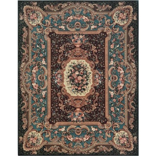 Mansour Exquisit Handwoven Savonnerie Rug For Sale