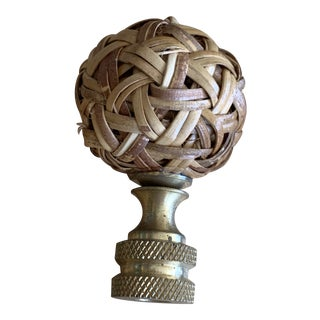 Small Rattan Ball Finial For Sale