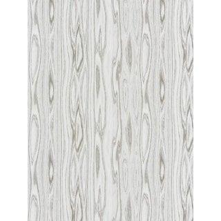 Sample, Scalamandre Faux Bois Weave, Ash Fabric For Sale