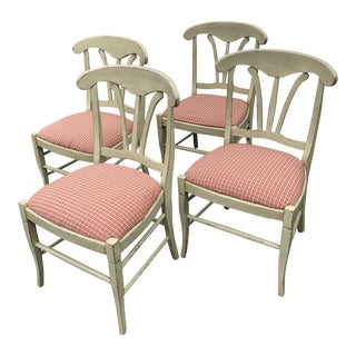 Rustic Italian Country Dining Chairs - Set of 4