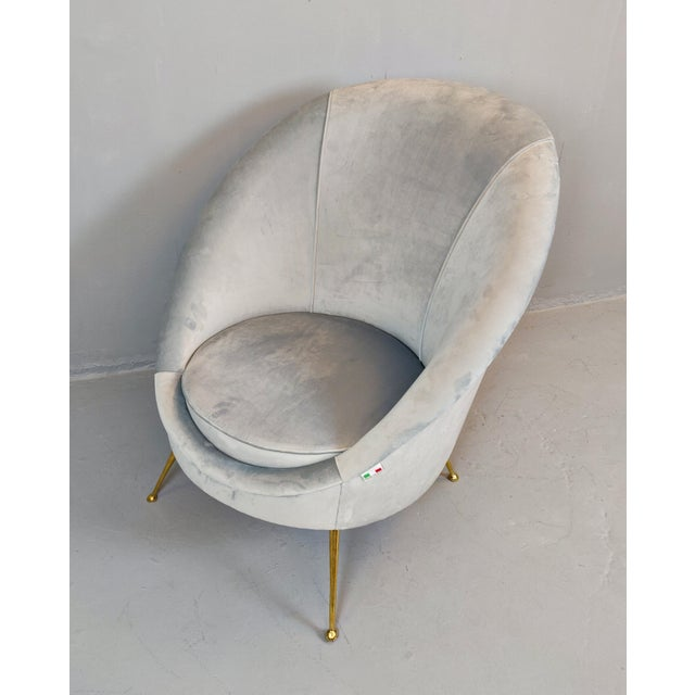 Italian Mid-Century Armchairs - a Pair For Sale - Image 11 of 12