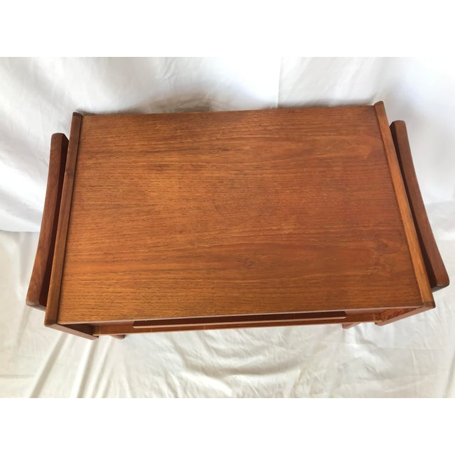 Vintage Danish Sewing Side Table For Sale In San Antonio - Image 6 of 13