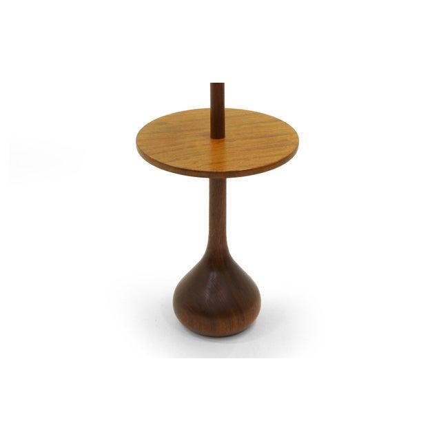 Exceptional danish modern solid teak floor lamp with attached end danish modern solid teak floor lamp with attached end table and teardrop base image 3 mozeypictures Gallery