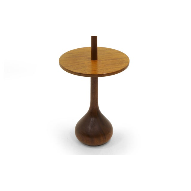 Exceptional danish modern solid teak floor lamp with attached end danish modern solid teak floor lamp with attached end table and teardrop base image 3 aloadofball Images