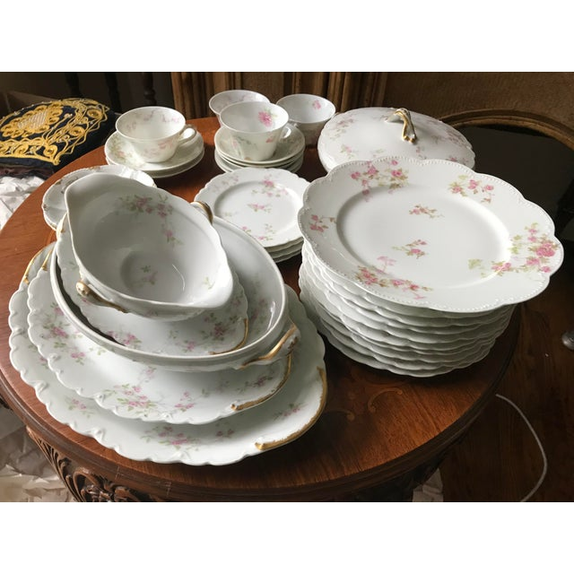 Antique , Rare Theodore Haviland Limoges France Partial Set 34 Pieces, Dinnerware For Sale - Image 12 of 13