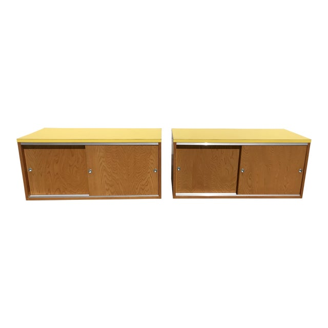 Sliding Door Cabinets - A Pair - Image 1 of 8