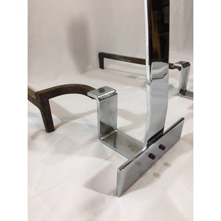 1970s Alessandro Albrizzi Modernist Chrome Andirons - a Pair Preview