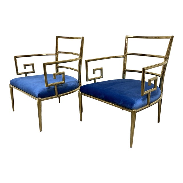 Kathy Ireland Gold Accent Chairs - a Pair For Sale