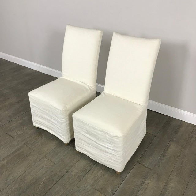 Slipcover Dining Chairs - A Pair - Image 3 of 7