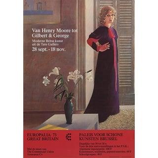 David Hockney, Van Henry Moore Tot Gilbert & George, Offset Lithograph, 1973 For Sale