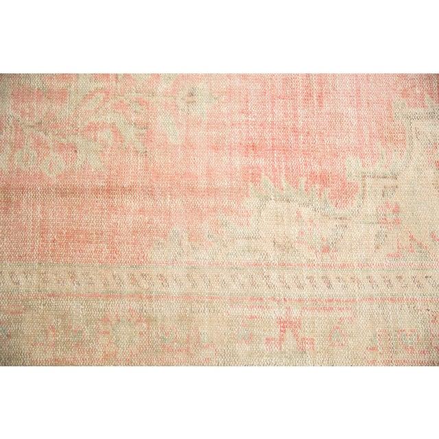 "Vintage Distressed Oushak Carpet - 6'2"" X 10'8"" For Sale - Image 10 of 13"