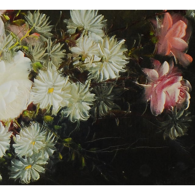 Vintage Floral Oil Painting by Henri-Roidot - Image 3 of 3