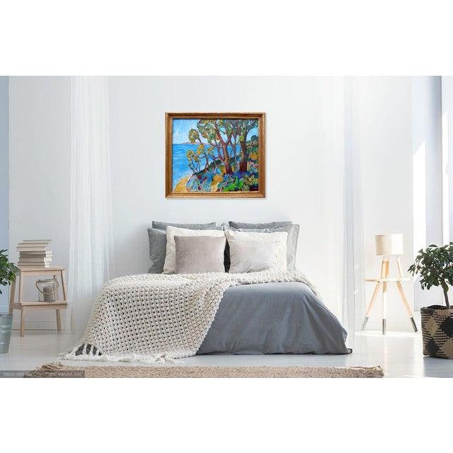 2010s Monumental - Santa Barbara Hills Oil Painting Framed For Sale - Image 5 of 8