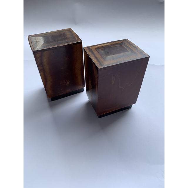 Brown Burl Wood Bookends - a Pair For Sale - Image 8 of 8