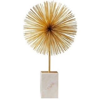 Starburst Sculpture on Marble Stand