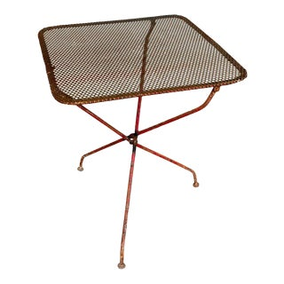 Mid-Century Iron Folding Garden Table