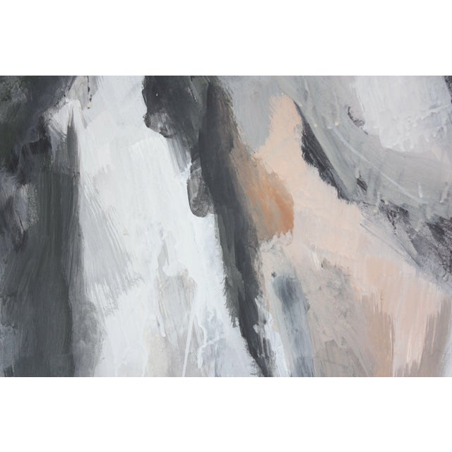 White Abstract Oil and Gouache on Board by Elizabeth Nachman Erlanger For Sale - Image 8 of 11