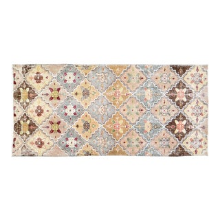 """Vintage Turkish Anatolian Hand Knotted Organic Wool Fine Weave Rug,3'3""""x6'9"""" For Sale"""