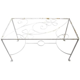 Vintage Weinberg Style Wrought Iron Table For Sale