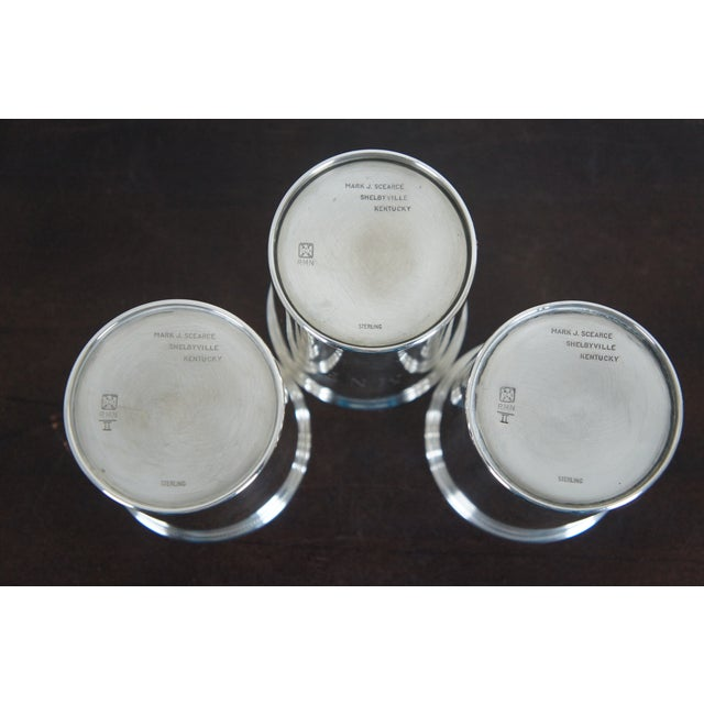 Sterling Silver Mark J Scearce Presidential Mint Julep Cups Richard Nixon Rmn - Set of 3 For Sale - Image 9 of 13