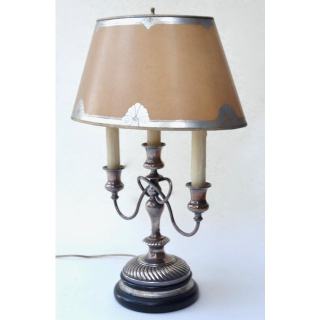 19th Century Silver Bouillotte Lamp From France, Signed E.Kennedy For Sale - Image 4 of 11
