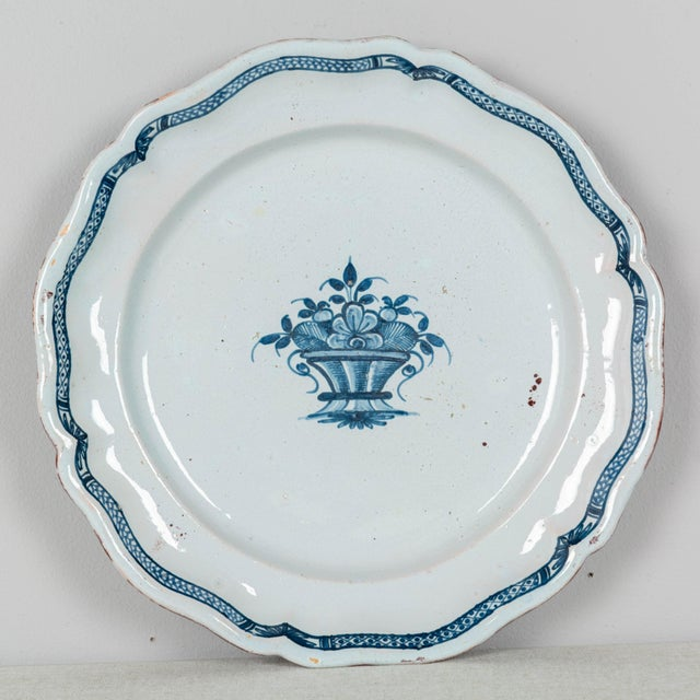 18th Century French Rouen Ceramic Platter For Sale - Image 9 of 9