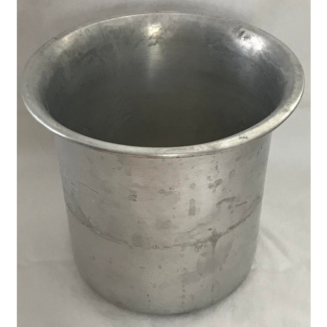 Mid 20th Century Vintage Silver Plate Champagne or Wine Cooler For Sale - Image 5 of 7