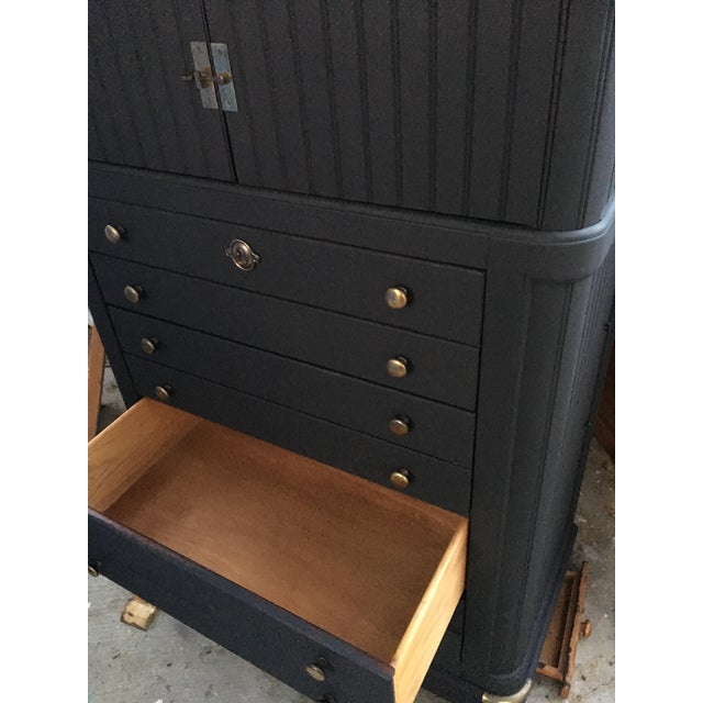 National Mount Airy Black & Gold Beadboard Dresser - Image 7 of 10