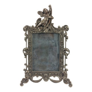 19th Century French Silver Plated Picture Frame