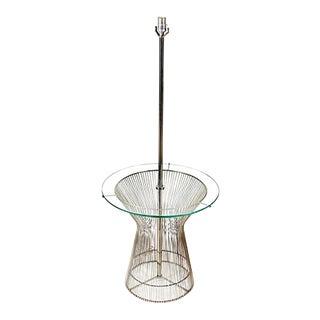 1960s Laurel Chrome & Glass Floor Lamp For Sale