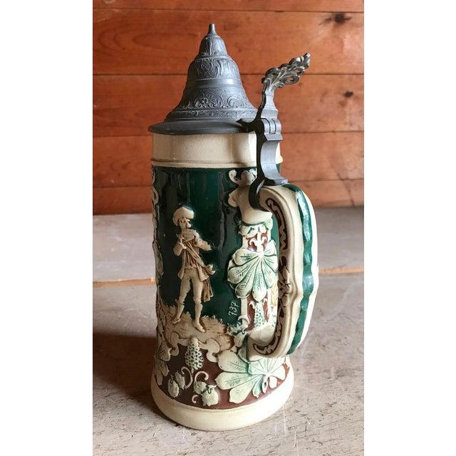 4 Leaf Clover Beer Stein, Germany, Vintage Barware For Sale - Image 4 of 9