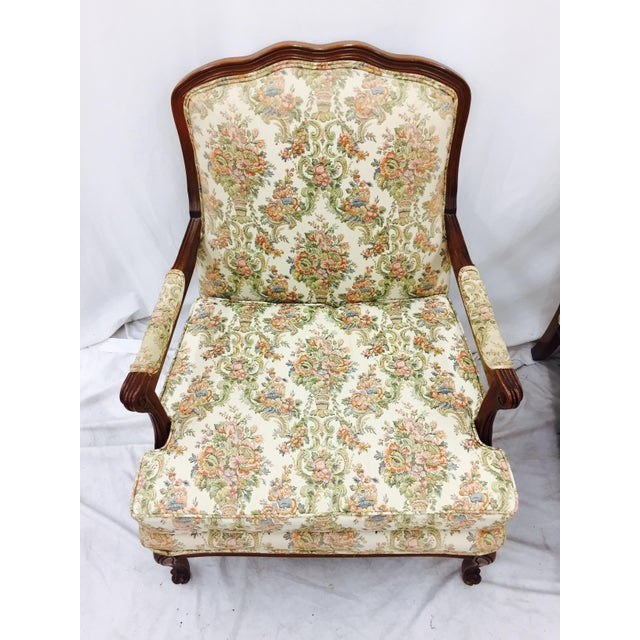 Vintage French Style Arm Chairs - A Pair - Image 9 of 11