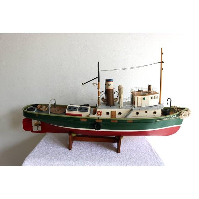 "1950s 1950s Artisan Carved Wood Boat Pa-Lan ""Cincinnati"" For Sale - Image 5 of 10"
