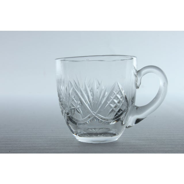 Fan Pattern Glass Espresso Mugs - Set of 10 - Image 3 of 3