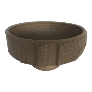 Brown Ceramic Planter Bowl