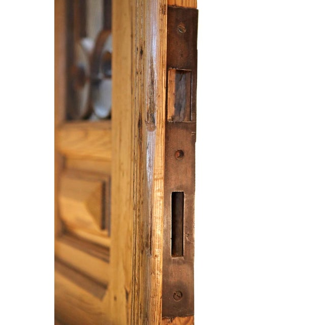 Antique French Pine Entry Door - Image 4 of 7