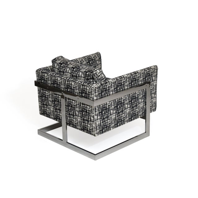 Milo Baughman for Thayer Coggin Chrome Lounge Chair For Sale - Image 10 of 10
