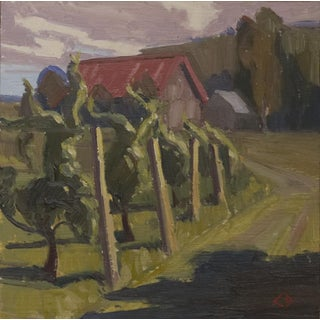 Christopher Best Vineyard Oil Painting For Sale