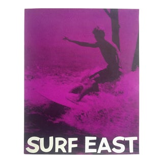 """Rare Vintage 1970's """" Surf East """" Silkscreen Print New Jersey Outer Banks East Coast Surfing Poster For Sale"""
