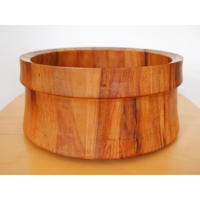 Vintage Nissen Solid Staved Teak Salad Bowl For Sale In Philadelphia - Image 6 of 6
