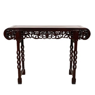 1940s Chinese Rosewood Scroll Dragon Altar Table